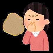 女性が鼻をつまんでいる  臭い仕草