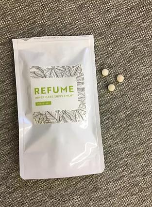 REFUME 袋と錠剤
