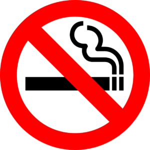 タバコ吸ったらダメ のマーク