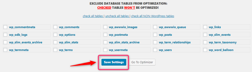 Optimize Database After Deleting revisionsの 設定