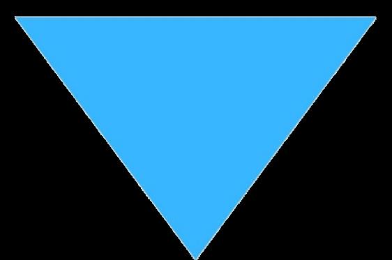 下向きの△ 青色i