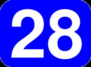 28℃ 青色