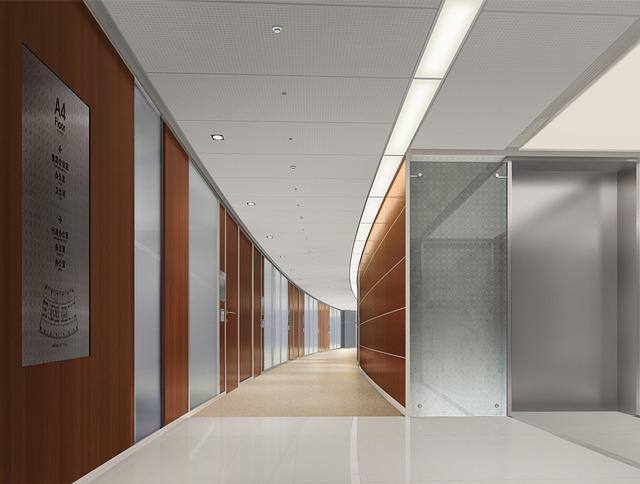 社内の廊下 綺麗