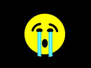 泣いている スマイル