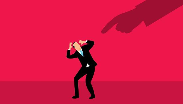 男性がストレスを受けてるイメージのイラスト
