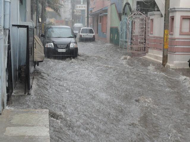 洪水の写真