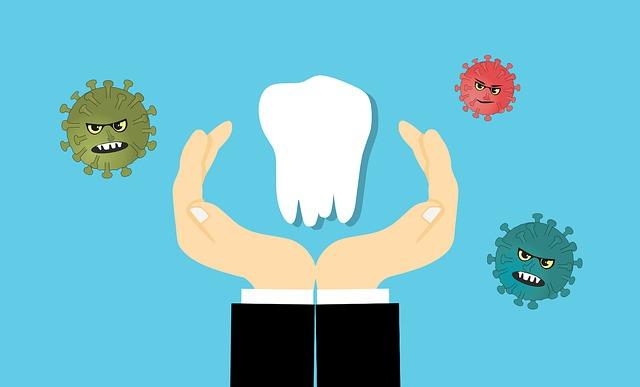 歯を保護しているイラスト