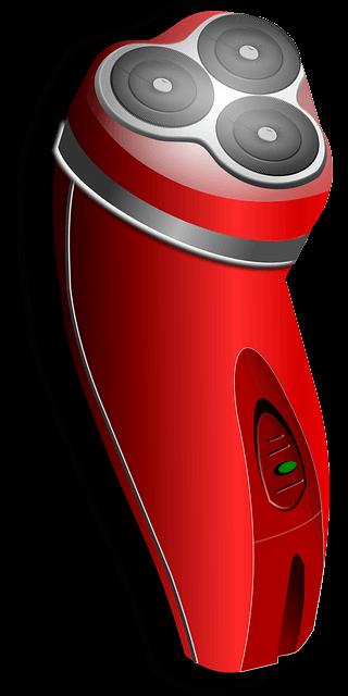 赤い電気シェーバー